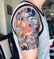 First Tattoo Japanesekoi Style Magikarp By Chase Martines At Til