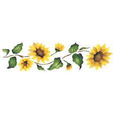 Sunflower Stencil Designs Designer Stencils Sunflower Border Wall Stencil 926