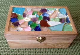 picture of create sea glass mosaic and seal