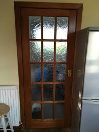 3 frosted panel glass doors