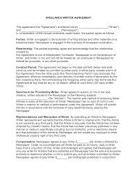 Freelance Contract Agreement Freelance Contract Template 1