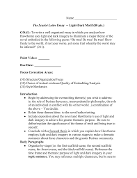 scarlet letter essay light dark motif