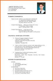 Best Cv For Job Application Perfect Resume Format