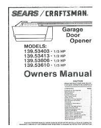 craftsman garage door manual craftsman garage door opener wiring craftsman garage door opener a wiring diagram craftsman garage door manual