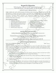 Resume For Assistant Principal Adorable Assistant School Principal
