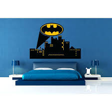 batman bedroom decals wall decals city skyline batman wall decal vinyl batman wall decal for batman