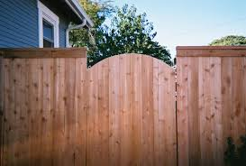 steel frame arch gate top cap fence with arch gate without seeing steel frame work the fenceman fence company