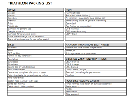 Race Day & Race Travel Checklists