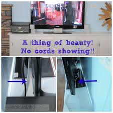 Keep cords neat and organized around your TV using these simple tricks ::  OrganizingMadeFun.