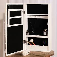 led mirrored jewelry cabinet armoire