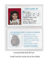 Make An Id Card Safe Kids Missing Child Id Cards Child Safety Better Than Neckless Bracelet 5 Ids For This Price