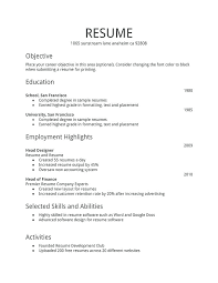 Simple Resume Template 2018 Magnificent Free Download Resume Templates Word And Downloadable Resume Template