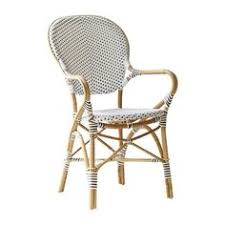 sika design affaire isabell stacking patio dining chair color white with cappuccino dots rattan dining