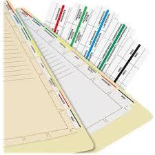 Blank Medical Chart Tabbies Medical Chart Index Divider Sheets Blank Tab S