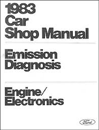 1983 lincoln continental foldout wiring diagram original 1983 car engine emissions diagnosis manual original