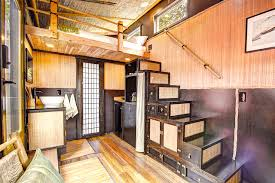 Bamboo Tiny House - Tansu Stairs asian-staircase