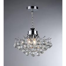 warehouse of tiffany boadicea 3 light crystal chrome chandelier