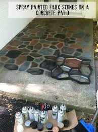 diy concrete pathway paint stones onto your concrete walk using diffe colors of spray
