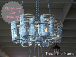 how to make hanging mason jar lights chandelier