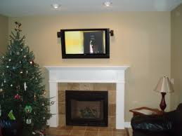 hdtv over a fireplace