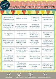 28 Good Deeds For 28 Days Of Ramadan Childrens Version