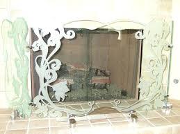 decorative wooden fire screens uk high seas fireplace screen hibiscus ribbons sans art glass 2 decorative fireplace screens