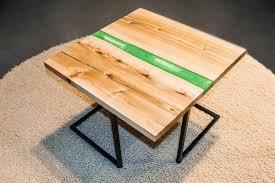 "<b>Coffee table</b> ""<b>Green</b> Wave"" | Hygge design - solid wood furniture"