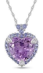 purple tanzanite heart pendant necklace