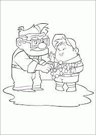 Small Picture Up Coloring Pages For Kids Russell and The Dog Coloring Page Up