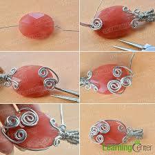 step 2 combine the aluminum wire and jade bead together