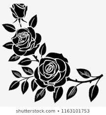 Flowers Clip Art Black And White Images Stock Photos Vectors