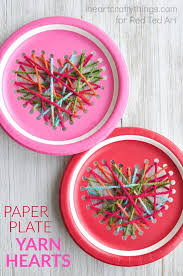 art and craft ideas for toddlers pinterest. paper plate heart sewing craft art and ideas for toddlers pinterest