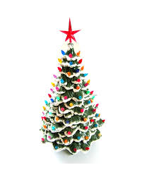 Amazoncom Ceramic Christmas Tree 25 Inches Tall And Lights Up Ceramic Tabletop Christmas Tree With Lights