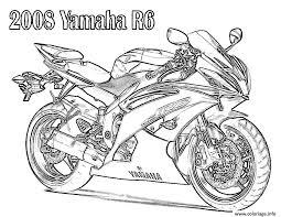 Coloriage Yamaha Moto De Course 19 Dessin