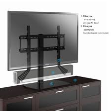 fitueyes universal tv stand pedestal base fits most  tvs