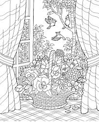 Blissful Scenes Coloring Page
