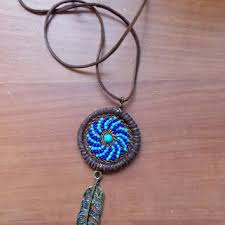 Native American Beaded Dream Catchers Best Best Native American Dream Catcher Necklace Products On Wanelo