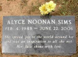 Alyce Noonan Sims (1948-2006) - Find A Grave Memorial