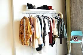 ikea wall clothes rack impressive garment rack and floating shelf closet wall pertaining to clothes rack