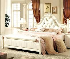 Latest Bedroom Antique White Bedroom Furniture Leather Bed New ...