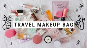 what s in my travel makeup bag makeup essentials korean skincare minis