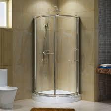 Bathroom: Round Bathroom Shower Sliding Glass Door - Bathroom Showers  Without Doors