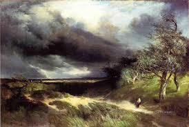 east hampton long island sand landscape thomas moran oil paintings