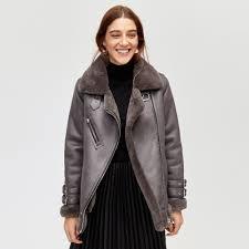 warehouse oversized aviator jacket dark grey 1