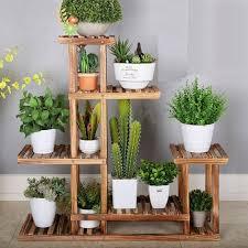 plant stand indoor wooden plant