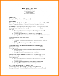 Download First Time Resume Templates Haadyaooverbayresort Com 5