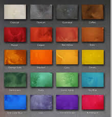 Concrete Floor Color Chart Stained Polished Concrete Color Chart Bubu And Lulus