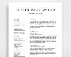 Simple Resume Template, Clean Resume, Simple Resume, Resume Template  Instant Download, Resume