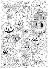 Lekker Griezelen Tijdens Het Kleuren Van Deze Halloween Kleurplaat