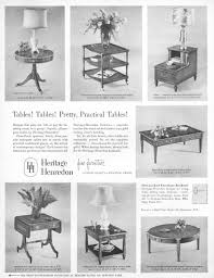 heritage henredon tables 1952 ad picture